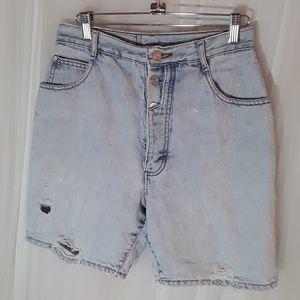 Vtg 90s Destroyed High Waisted Jean Shorts Gitano